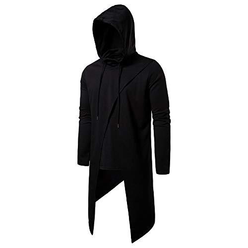 KXZD Männer Langarm Outwear Hoodie Sweatshirt Tops Asymmetrisch Jackenmantel Herren Sweatjacke Kapuzenjacke Kapuzenpullover Herren mit Kapuze Hoody Kapuzenshirt Hemd Tops T-Shirt Hoodie