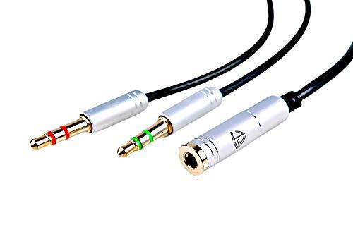 FC Trade Company-Cavo Audio-Sdoppiatore Cuffie 2 in 1-Adattatore Cuffie Maschio a Femmina-Splitter Jack