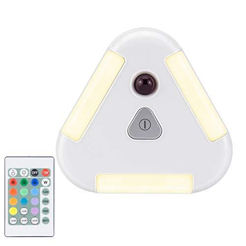 HONWELL LED Spot Batterie Farbwechsel Wandstrahler, Wireless RGB Puck Licht mit Fernbedienung, 100LM Warmweißes Nachtlicht für Schrank, Malerei, Unterschrank, Schrank, Flur, Küche, Dachboden