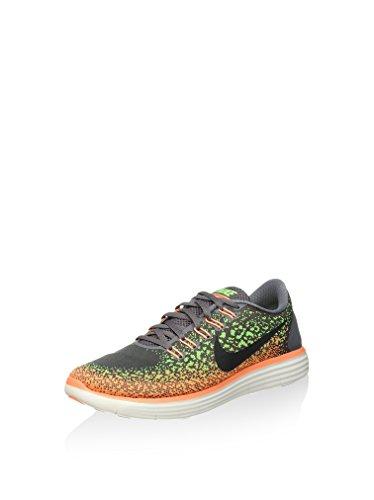 Nike Mens Free Rn Distance Wolf Grey/Black/Rg Grn/Atmc Orng Running Shoe 11 ...