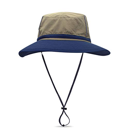 DORRISO Moda Sombrero de Sol Hombres Mujer Sombrero para el Sol Anti-UV Vacaciones Viaje Playa Gorro de Pesca Unisexo Sombrero