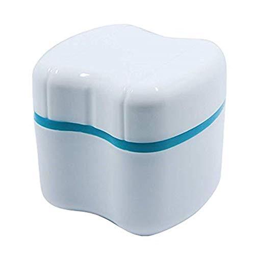 Zhangzhiming Aufbewahrungsbox für Zahnprothesen, Zahnprothesenbecher mit Sieb zum Reinigen und Herausnehmen
