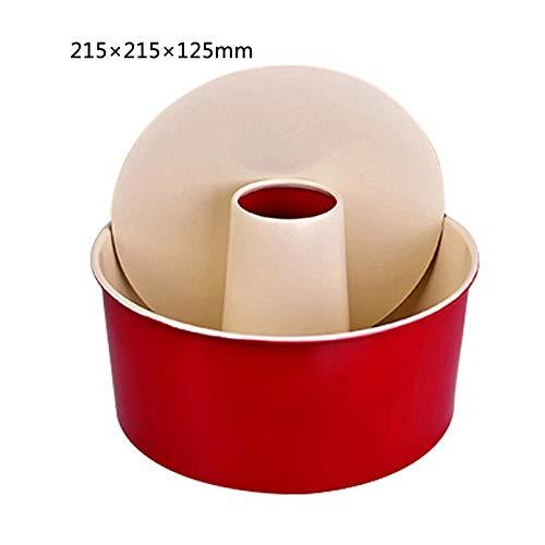 Ykun Doppelte Qifeng-Kuchenform der roten Serie, runde Hohle Haushaltskuchenform, Backform-8 Zoll