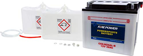 WPS Conventional 12V Heavy Duty Battery With Acid Pack C60N24ALB