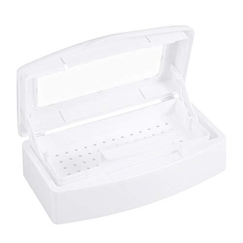 Nail art tool sterilisator bakje, verwijderbare plastic manicure container Tweezer tools Desinfectie box voor schoonheidssalon en thuisgebruik
