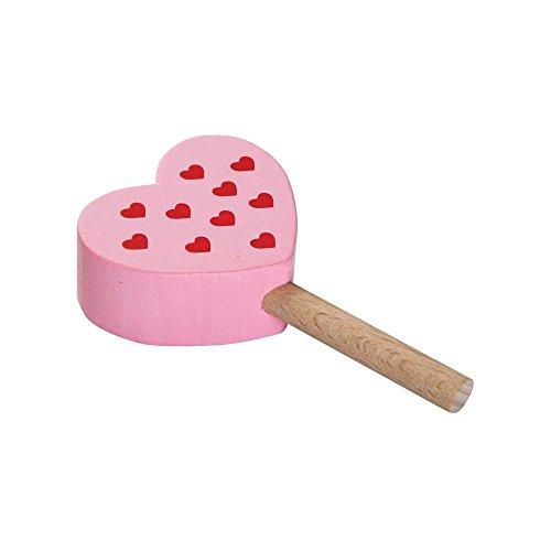 3 Stück Erzi Eis am Stiel Himbeer, Spielzeug-Eis, Holz-Eis