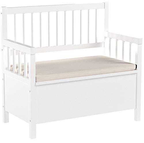 AC Design Furniture Bank Thomas, B: 90 x T:48 x H: 85 cm, MDF, Weiss - 5