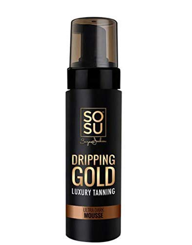SOSU Dripping Gold Luxury Tanning Mousse 5 Oz! Formulated with Hyaluronic Acid, Vitamins A & E! Vegan Friendly, Cruelty Free And Paraben Free! Choose Medium, Dark Or Ultra Dark! (Ultra Dark)