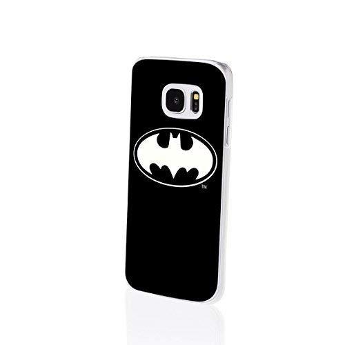 Finoo | Samsung Galaxy S7 Edge Hard Case Handy-Hülle Batman Motiv | dünne stoßfeste Schutz-Cover Tasche mit lizensiertem Muster | Premium Case für Dein iPhone| Batman Logo Black Middle