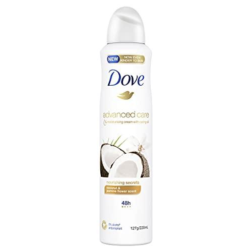 Dove Advanced Care Antiperspirant Aerosol Deodorant Nourishing Secrets Coconut and Jasmine 220ml (Pack of 1)