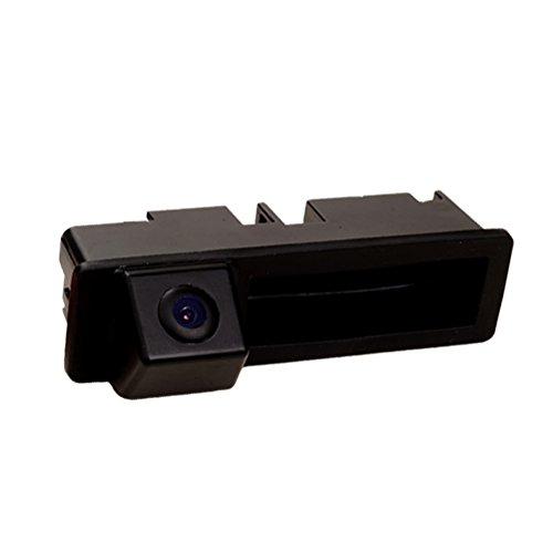 Dynavsal HD CCD Caméra de Recul Voiture en Couleur Kit Caméra Vue arrière de Voiture Imperméable IP67 avec Large Vision Nocturne pour Trunk Handle A6L A4 A3 Q7(Taille 110 x 32 mm = Modèle 01678)