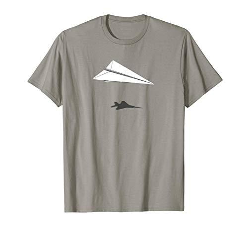 Paper Airplane Shadow F-15 Eagle Camiseta