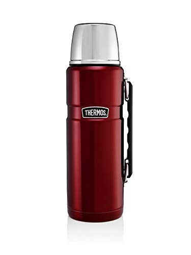 Thermos de acero inoxidable, color rojo arándano, 1200 ml