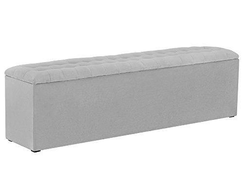 Windsor & Co Rangement, Tissu, Gris Clair, 160 x 34 x 47 cm