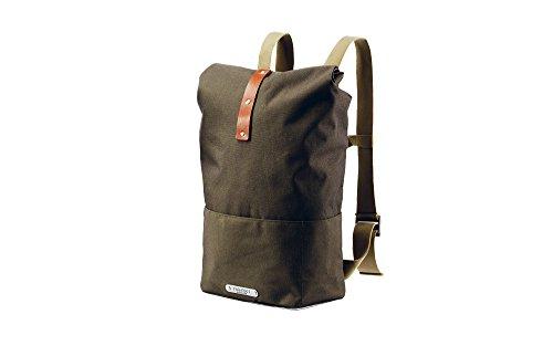 Brooks England Unisex– Erwachsene Hackney Backpack, Green Fleck/Honey, Large-24-30 Liter