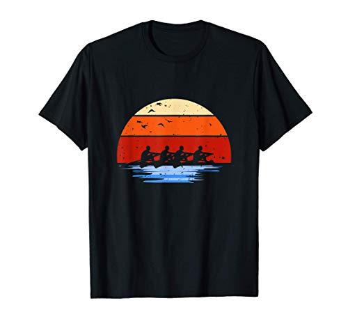 Aviron Rameur Rowing Coucher de Soleil T-Shirt