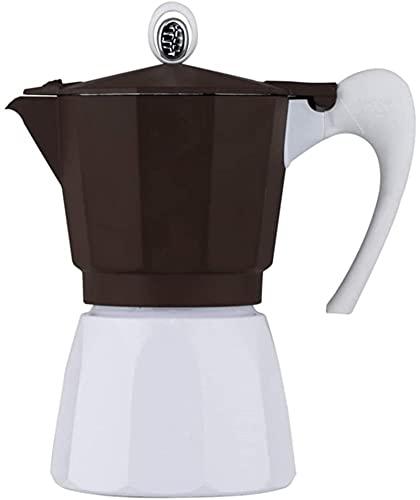 MXCHEN Mocha Pot Moka Pot Cafetera Aparato de café Hacer espresso Cafetera Mocha Pot Espresso (Color: Marrón, Tamaño: 3 tazas)