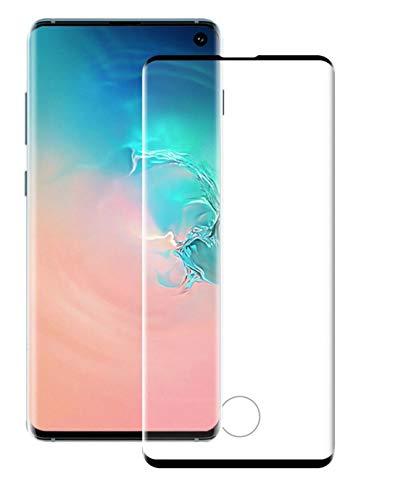 Yingge volledig gebogen scherm gehard glas beschermfolie voor Samsung Galaxy S7 Edge S8 S9 S10 Plus S10E, For Samsung S10, Zwart