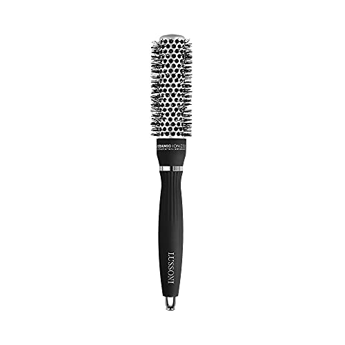 T4B LUSSONI Hot Volume Brosse A Cheveux Ronde Pour Styling Cheveux Courts Et Moyens (25 mm)