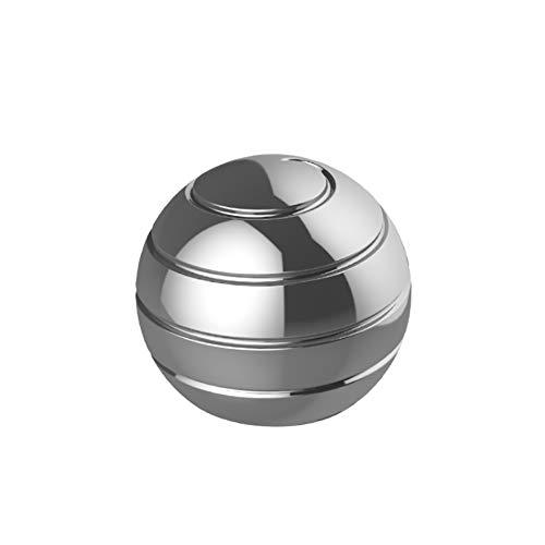 FFYUE Aviation Schraube Ball, voller Länge Großhandel Fingertip Oberfläche Schraube, Kinder Erwachsene Spielwaren,Silber,Diameter55MM