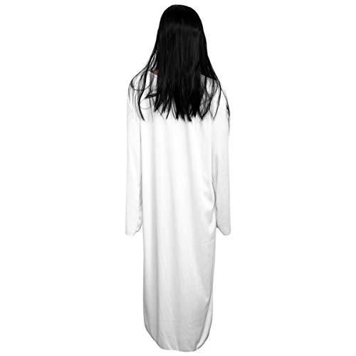STOBOK 1 Pcs Halloween Traje Do Fantasma Assustador Fantasma Vestido de Noiva Traje de Halloween Horror Zumbi Branco Terno para As Mulheres Estudante