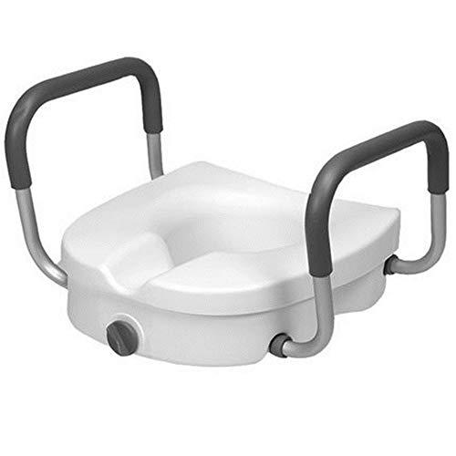 MYQ Toilet Frame, Armleuning Toilet Booster, Toilet Handrail Verhoogde Zitting Met Deksel Verstelbare Toiletbril Met Armsteun - Verbeter het Toilet