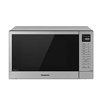Panasonic NN-SN68KS Compact Microwave Oven with 1200W Power, Sensor Cooking, Popcorn Button, Quick 30Sec & Turbo Defrost, 1.2 Cu.' (Stainless Steel/Silver)