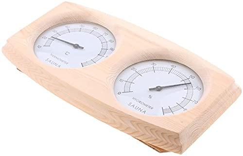 SDFOOWESD Wood Thermo-Hygrometer Sauna Termómetro Higrómetro Termómetro Sauna Termómetro e higrómetro...