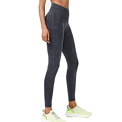 MOLY VIVI Butt Lifting Yoga Pants Seamless Workout Jean Leggings for Women High Waist Gym Shark Pants Fitness Running Sports Black