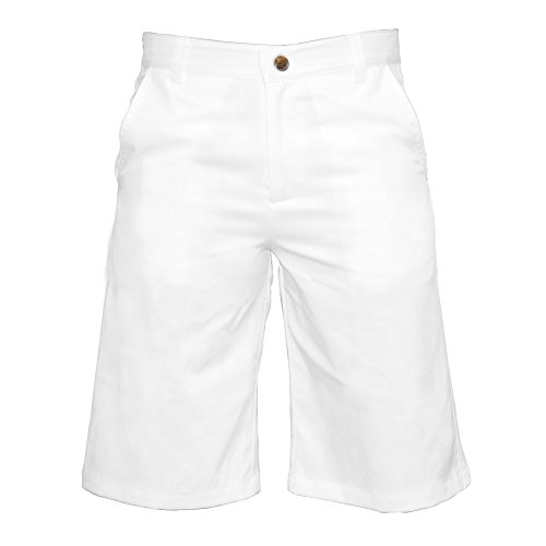 Garb Big Boys Zach Performance Golfshorts, Jungen, Golf-Shorts, weiß, Large (9-10)