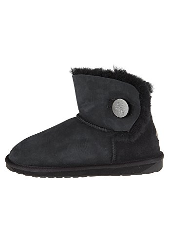 EMU Australia Damen Denman Mini Kurzschaft Stiefel, Schwarz Black, 40 EU
