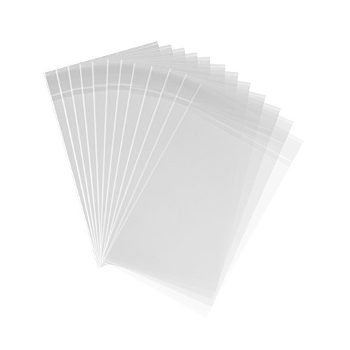 200ct Clear Plastic Bags 4x6-1.4 mils Thick Self Sealing OPP Cello Bags for Bakery Cookies Decorative Wrappers (4'' x 6'')