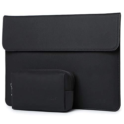 HYZUO 13 Pollici Laptop Custodia Borsa Sleeve PC Portatile Compatibile con MacBook Air 13 M1 2018-2021/MacBook Pro 13 M1 2016-2021/iPad Pro 12,9 2021/Dell XPS 13/Surface Pro X 7 6 5, Nero(Orizzontale)