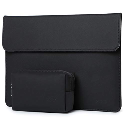 HYZUO 15-16 Inch Laptop Sleeve Case Bag Compatible with 2019 2020 New Macbook Pro 16 A2141/ Surface Laptop 3 15 Inch/Dell XPS 15/2012-2015 Old MacBook Pro 15 A1398 with Small Bag, Black-Horizontal