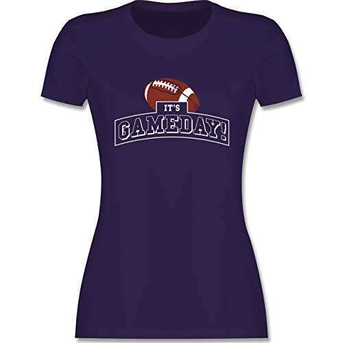 Sonstige Sportarten - It's Gameday Vintage Football - M - Lila - Gameday Shirt - L191 - Tailliertes Tshirt für Damen und Frauen T-Shirt