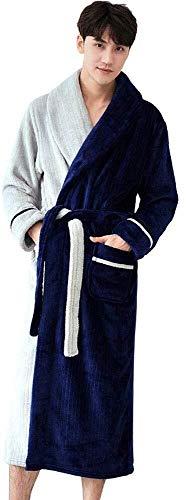 Hcxbb-21 Herfst en Winter Flannel Badjas - Persoonlijkheid Nachtjapon Heren Verdikt Verlengd Thuis Service Hit Kleur pyjama Super Zachte Huiskleding
