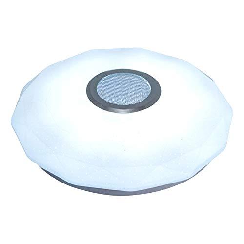 MagiDeal Luces de Techo LED RGB APLICACIÓN Bluetooth Música Luz Lámparas de Dormitorio Techo Inteligente