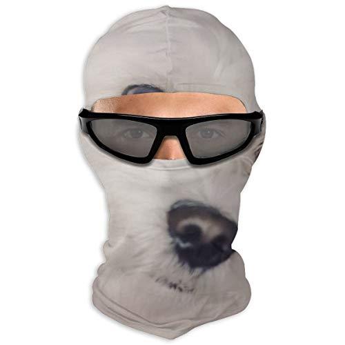 NB Vollgesichtsmaske mit langer Beschichtung, weiße Welpenhaube, Sonnenschutzmaske für Männer und Frauen