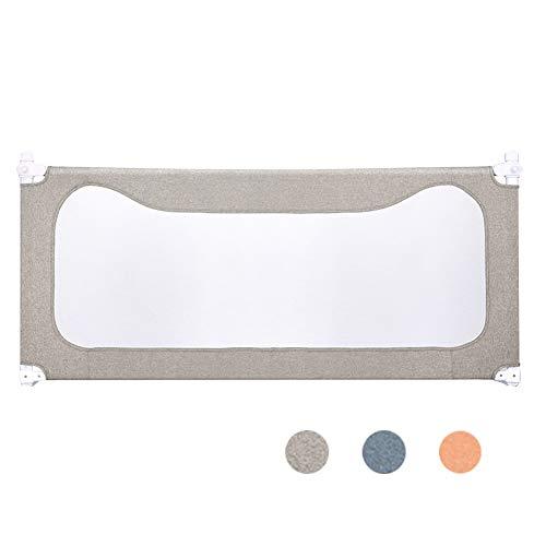 XJJUN Barrière De Lit Suitable for Child Safety Barrière De Sécurité for Lit De Bébé Raised Vertical Vertical Bed Ventilation Net, 3 Colors (Color : Gray, Size : 200x68-93cm)