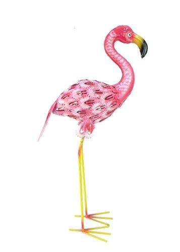 Christmas Concepts® Pink Metal Freistehender Flamingo - Gartendekoration für drinnen und draußen (61cm Pink & Weiß) (24'')