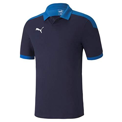 PUMA Herren Poloshirt, Peacoat-Electric Blue Lemonade, XXL