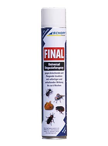 SCHOPF 301118 Final Ungezieferspray, 750 ml Maxipack mit Langzeitwirkung