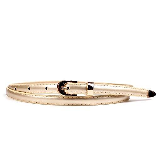 SBORT Cintura Casual Ideale per jeans Vestito selvaggio da donna oro 100cm