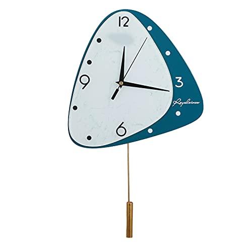 BOLORAMO Reloj De Pared Digital, Esfera De Vidrio Veteado Relojes De Pared Fáciles De Usar Que Funcionan con Pilas para El Dormitorio para La Sala De Estar
