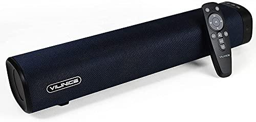 Bluetooth Soundbar, VILINICE 2.0 Kanal Lautsprecher, Mini 40cm TV Speaker mit Fernbedienung und optisch, USB, AUX, RCA Anschlüsse für TV, PC Computer, Laptop