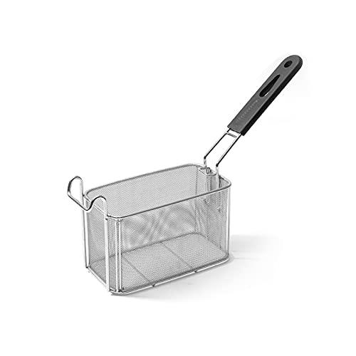 Chip Freidora Cesta Cesta de freír de malla densa comercial con asa anti-escaldia Acero inoxidable Canasta de papas fritas para la cafetería, bar de aperitivos para Alimentos, Empanadas, Fideos, Chip