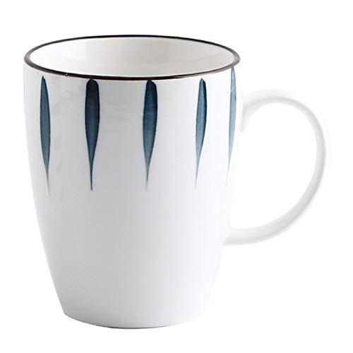 WHYX Tazas café Vaso Termico café,Taza de café para Parejas, Regalos, cerámica de 500 ml, Taza Grande, Resistente al Calor, Jugo de Leche, Taza de Chocolate Caliente, Taza Breatfast