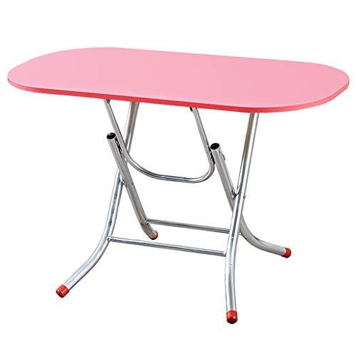Tabelle Klapptisch Einfacher Esstisch Tragbarer Schreibtisch Lange Tisch Stall Table Study Tisch Laptop Tisch Couchtisch (Color : PINK, Size : 80 * 40 * 50CM)
