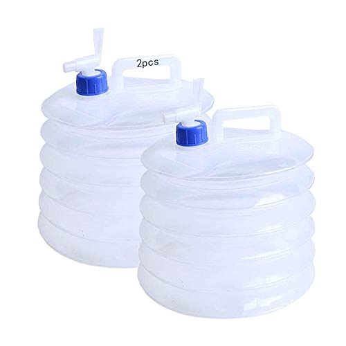 2pcs Contenedor de Agua Plegable,Bidón de Agua Plegable,Cubo de Agua Plegable,Contenedor de Agua con Grifo,Contenedor de Agua Portatil,Cubo de Agua Plegable