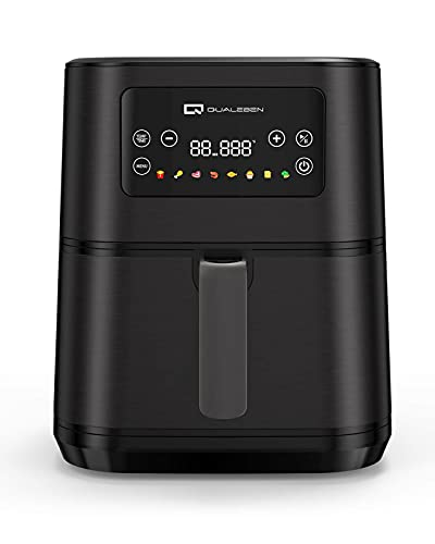 Digital Air Fryer, Qualeben 8QT Air Fryer with 100 Recipes, 1750W LED Touch Screen Large Air Fryer Cookers, Hot Air Fryers with 8 Colorful Presets, Non-stick Oilless Cooker with Timer